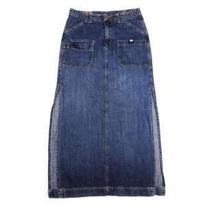 Lucky Brand Long Denim Jean Skirt VTG